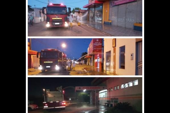Higienização e desinfecção de espaços públicos e comercio