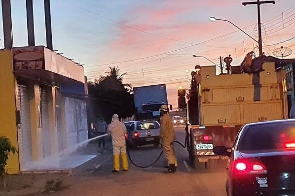 Desinfecção de ruas